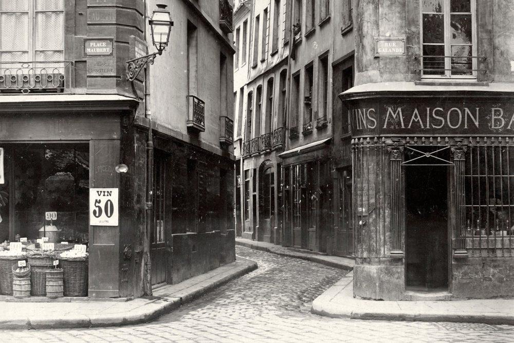 Charles Marville, Rue des Lavandieres de la Place Maubert,circa 1853–70 (detail).   *