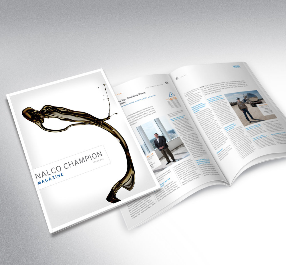 Nalco Champion Magazine - Editorial direction, copywriting, editing, proofreading. CA Design Annual winner.