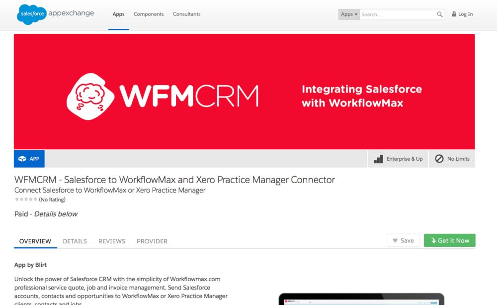 WFMCRM Listing on Salesforce AppExchange