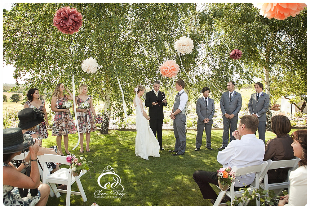 Bridgetown garden wedding ceremony