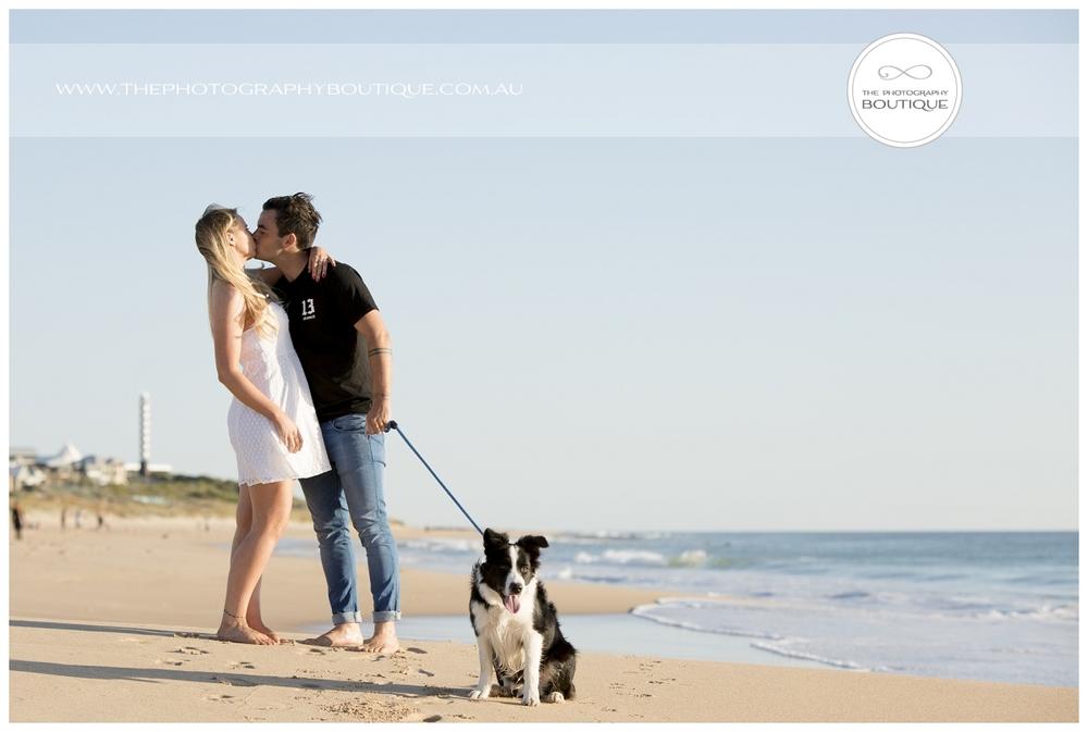 Beach family pet portrait