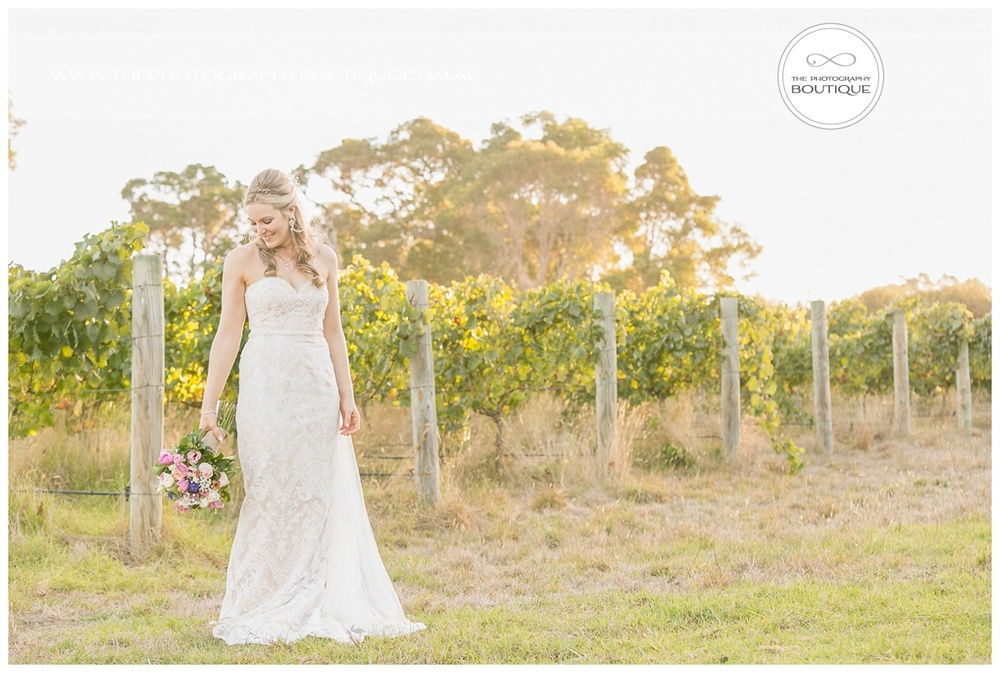 bride in the vines
