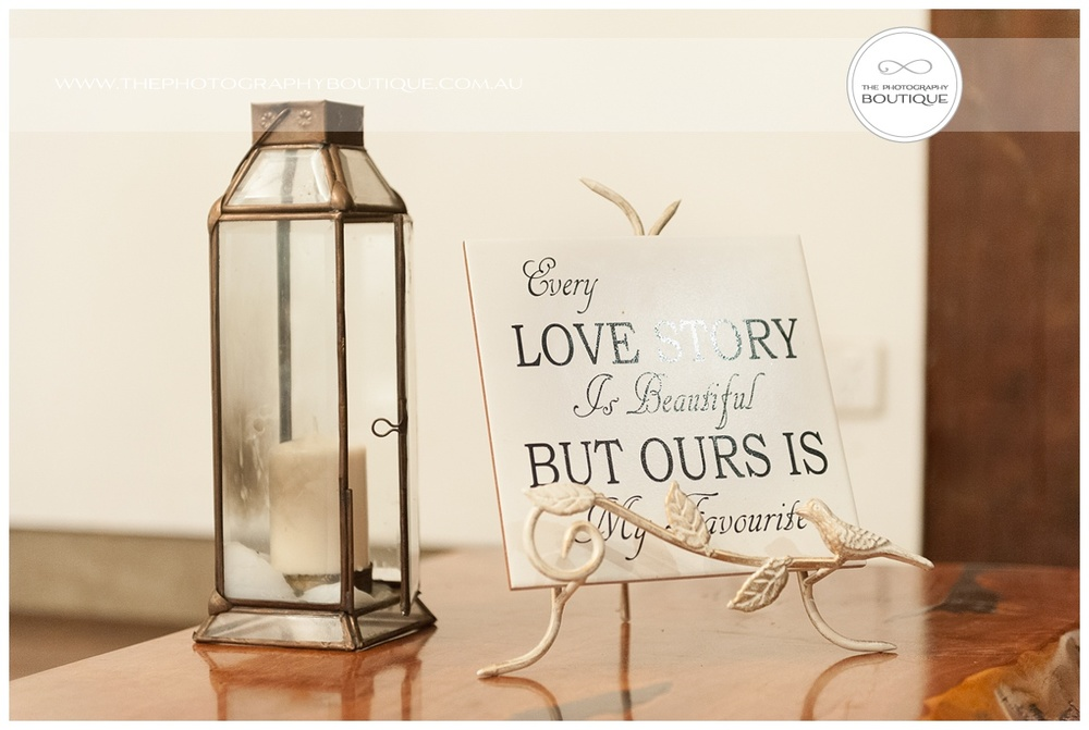every love story is beautiful but our is my favourite wedding styling sign