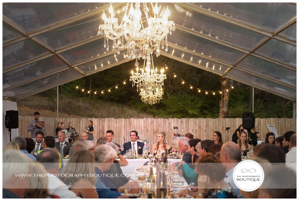wedding marquee with chandelier margaret river