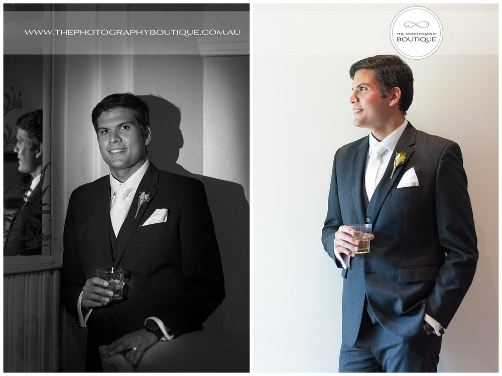 Classic creative groom portrait