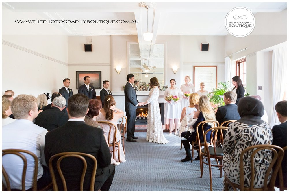 Wedding Ceremony in the Indijup Room at Caves House Yallingup