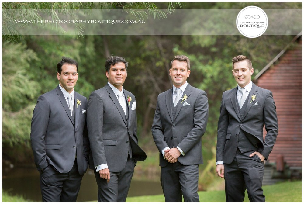 Groom with groomsmen at Caves House Yallingup