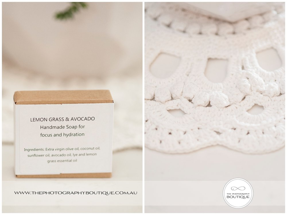 Handmade lace placemats for wedding centrepices