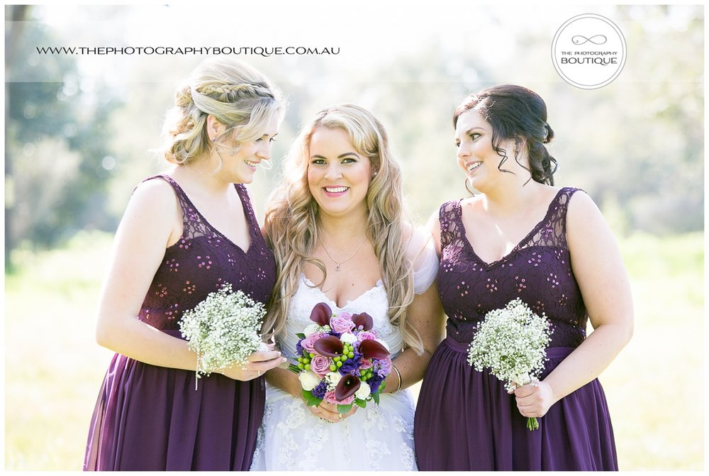 bride with her bridesmaids at Roelands wedding