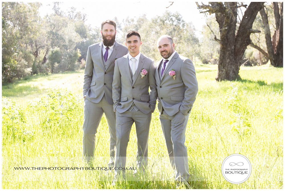 Groom with groomsmen at Roelands wedding