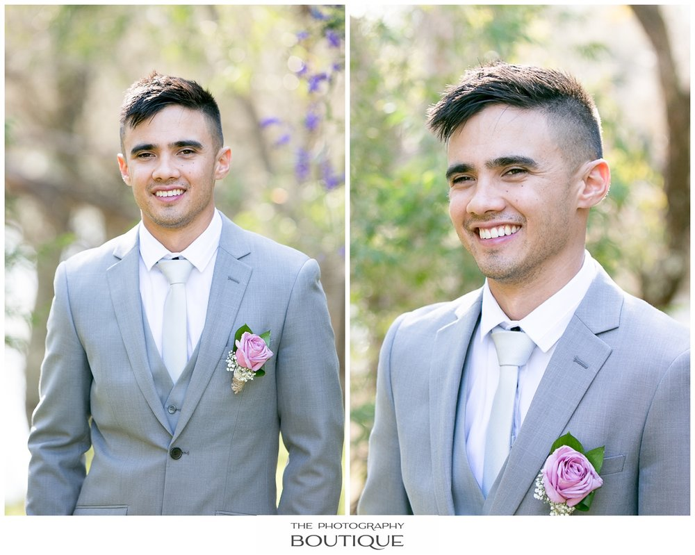 Groom Portrait in the park at Roelands Bunbury wedding