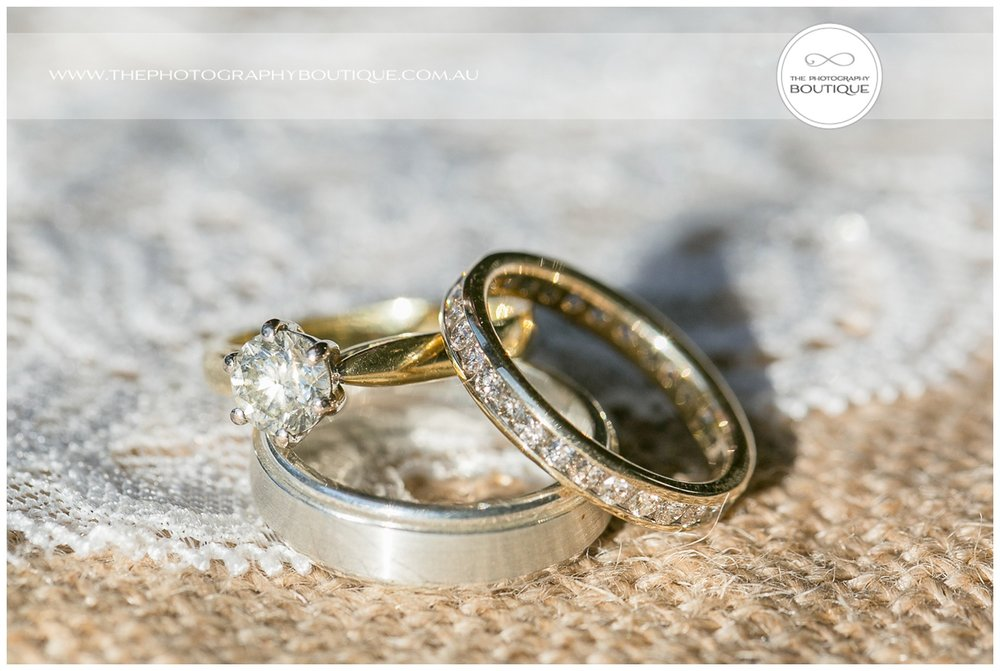 the wedding rings at Roelands Bunbury wedding