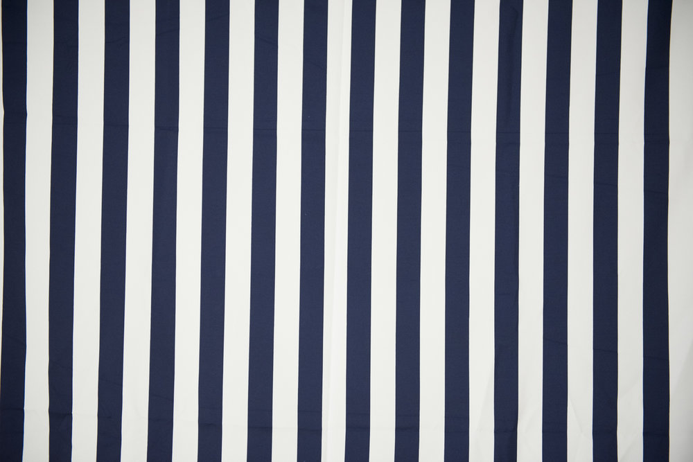 Navy & White Thin Stripe
