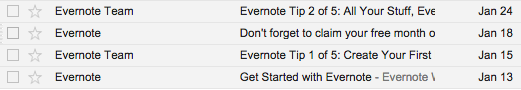 *   Evernote or Evernote Team