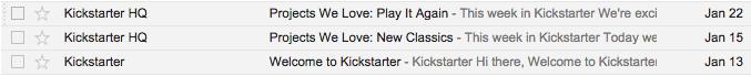 *  Kickstarter or Kickstarter HQ