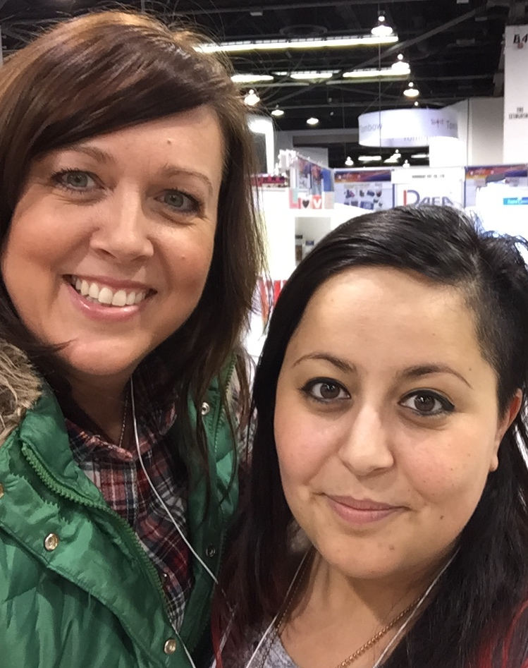 Lookie who I found at CHA??? Miss Zoey Scarpelli!!!  So happy to see my friend from Italy at CHA and get a chance to hang out with her!  We can't WAIT until this summer when she teachers for me at my Creative Retreat in Italy June 14 - 20!