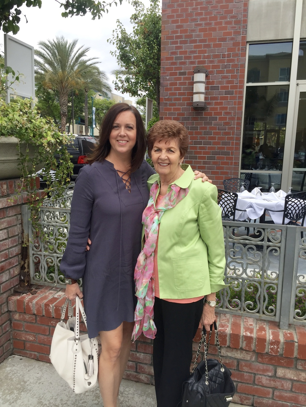 Me and my momma today.  We are so glad she has moved from the OC to our area so we can be closer!  It's so great to have her near us and to go to the same church with her!