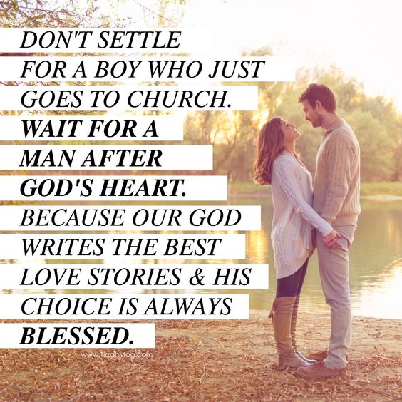 I want a christian man