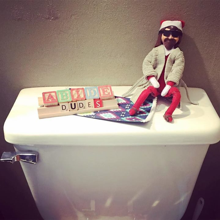 Twas the night before xmas, and the toilet seat was up.