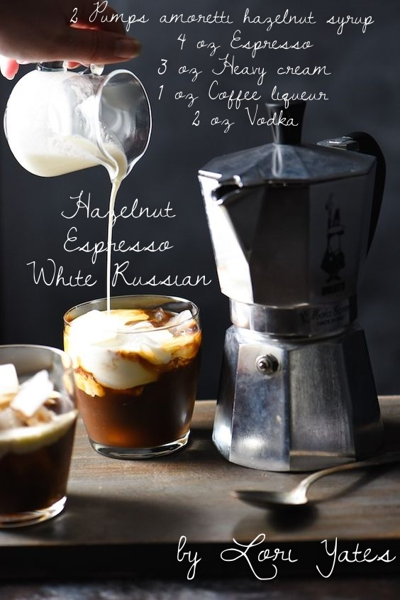Hazelnut Espresso White Russians by  Lori Yates