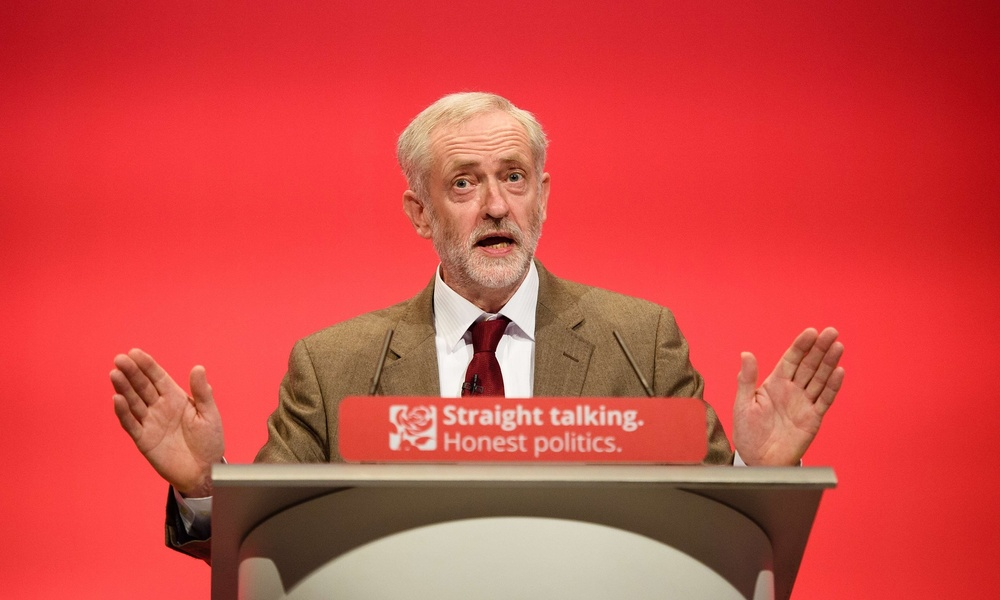 Jeremy Corbyn, photograph: Leon Neal/AFP/Getty Images