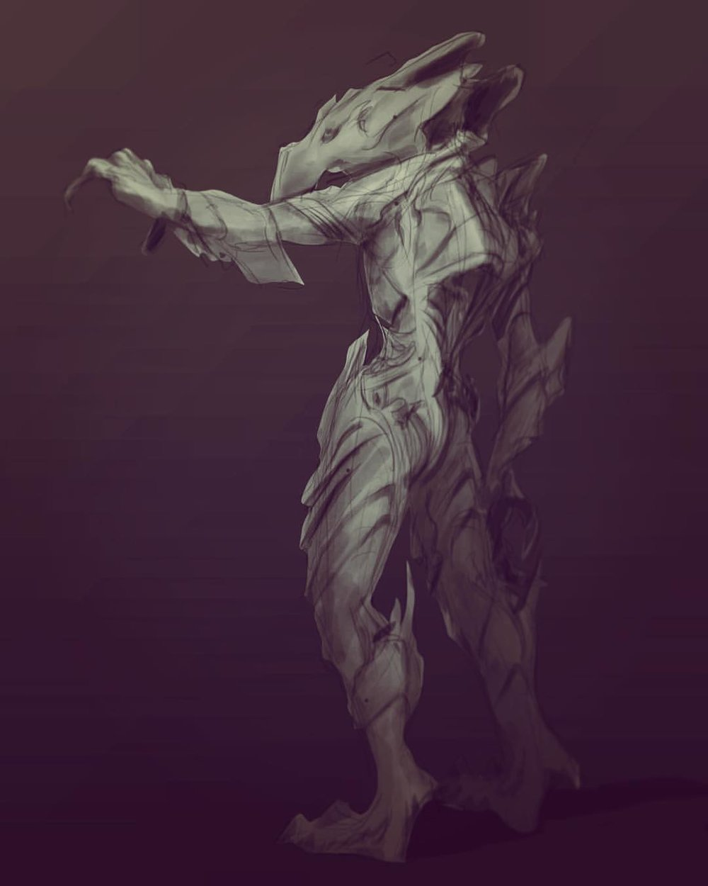 #monster #creature #alien #horror #sketch #sketching #painting #illustration #art #arthabit #insect #drawing #draweveryday