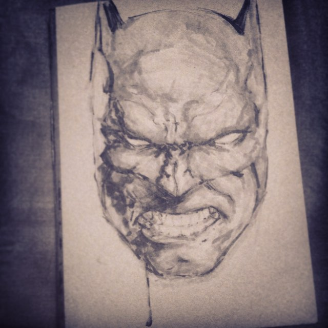 #batman #study #values #dc #sketching #sketchbook #fun #comics #face #angry #arthabit #drawing #marker #copic