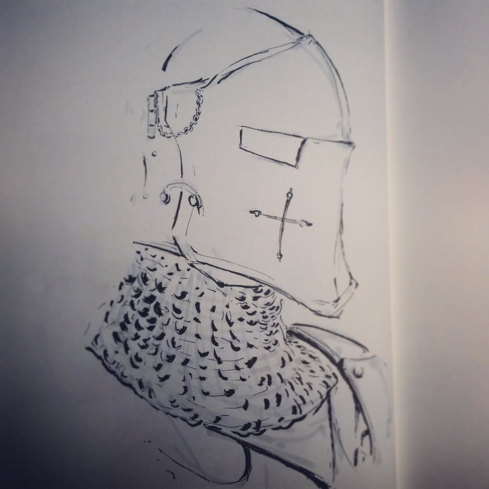 No.23 catch up #inktober #ink #sketch #arthabit #drawing #knight