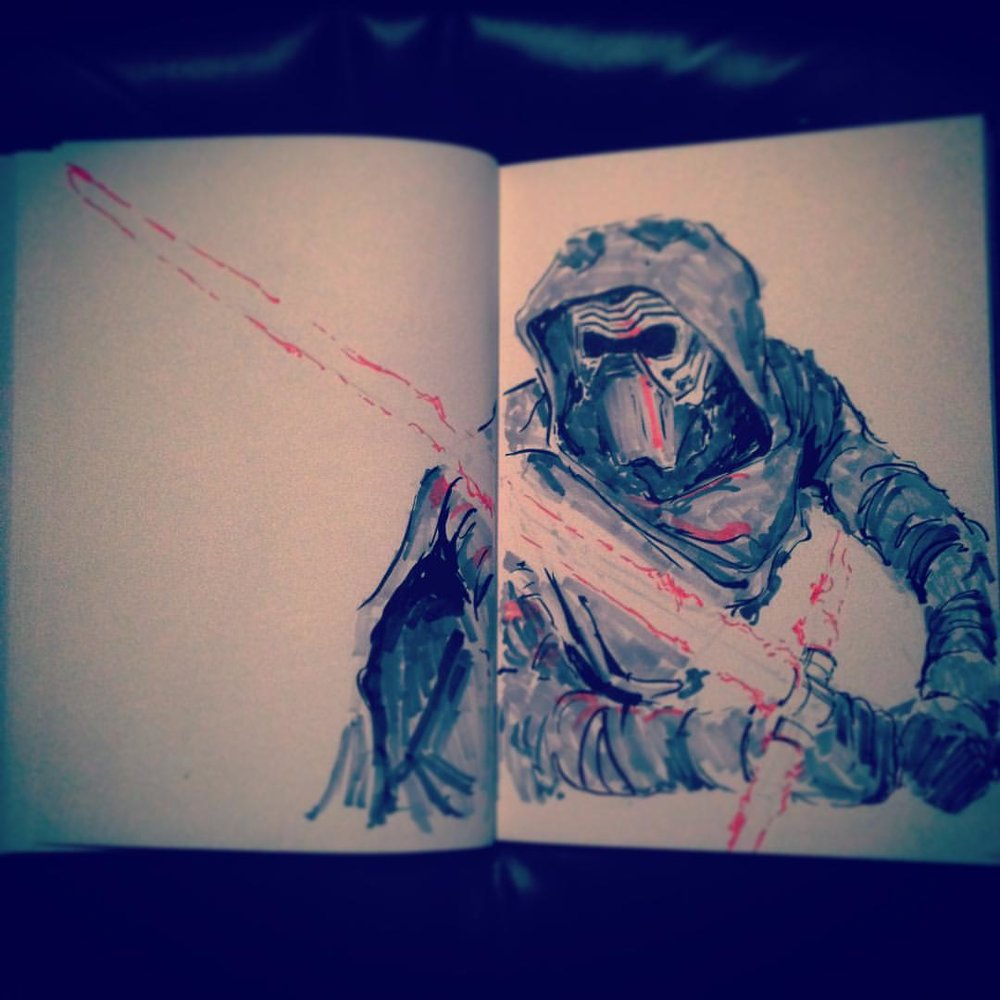 No.21 #inktober #kyloren #starwars #theforceawakens #ink #copicmarkers #sketching #sketchbook #arthabit #art #drawing