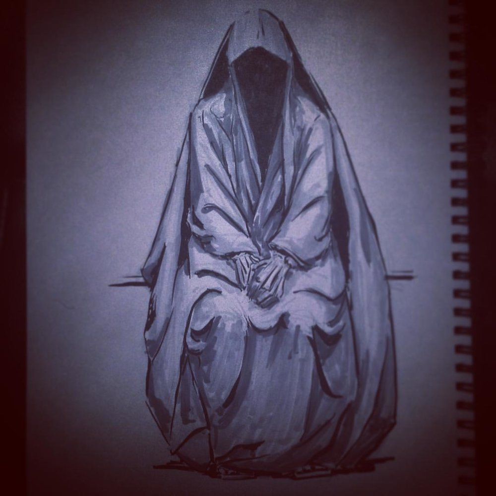 No.15 #inktober #ink #art #arthabit #drawing #sketch #sketchbook #illustration #horror #ghost #death
