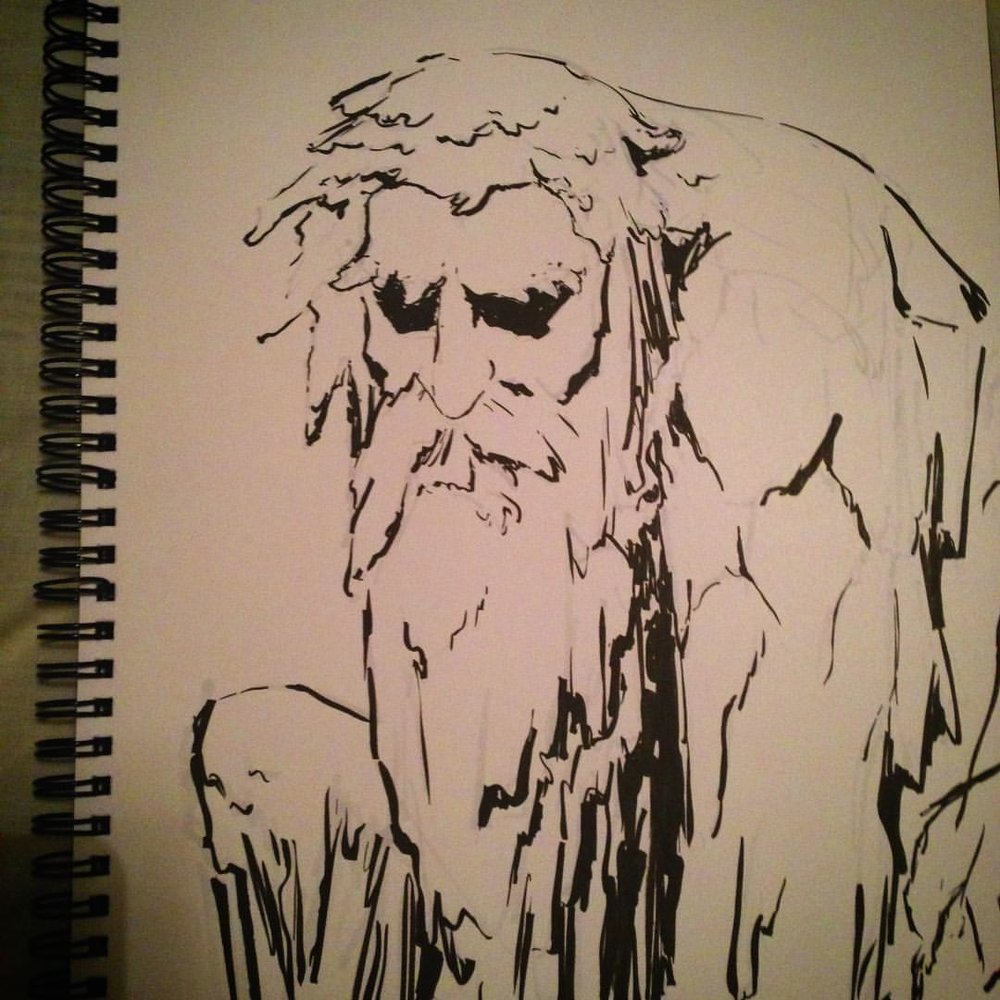 No.12 #inktober #ink #arthabit #art #illustration #drawing #sketchbook #king #giant #stone