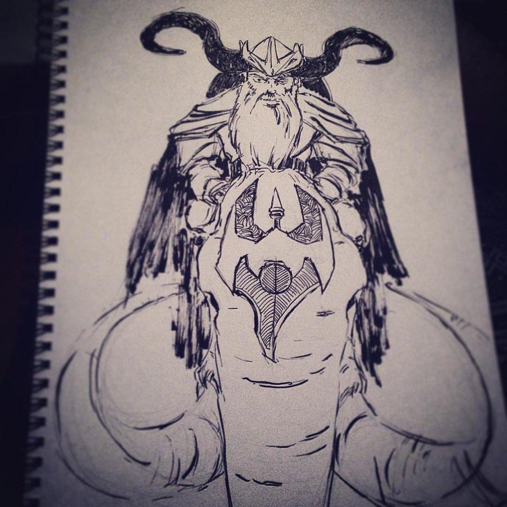 No.4 #inktober #ink #drawing #sketch #arthabit #art #sketchbook #vikings