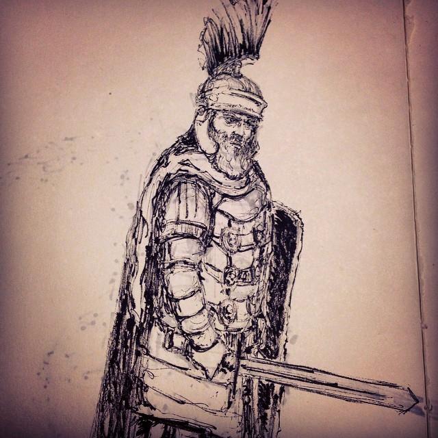 #romanempire #rome #warrior #sword  #battle #armor #art #illustration #drawing #sketchbook #inktober