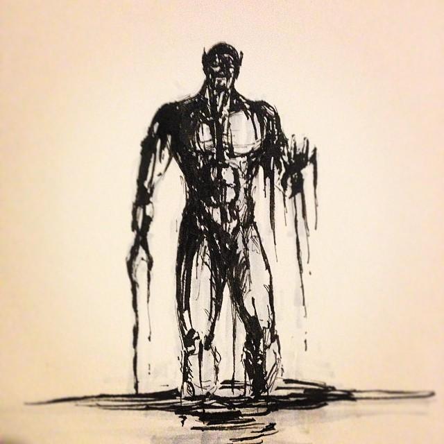 #inktober #ink #bath #morning #drawing #art #sketching #sketchbook #brushpen #illustration