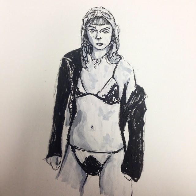 #inktober #art #illustration #drawing #ink #brushpen #marker #copic #sketchbook #sketch #girl