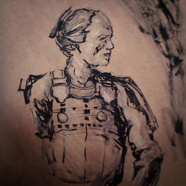 #samurai #warrior #brushpen #art #illustration #drawing #ink #cops #sketchbook