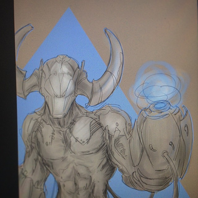 #cyborg #demon #doom #doom4 #art #fanart #illustration #hell #sketch #sketching #painting #cannon #drawing #demon