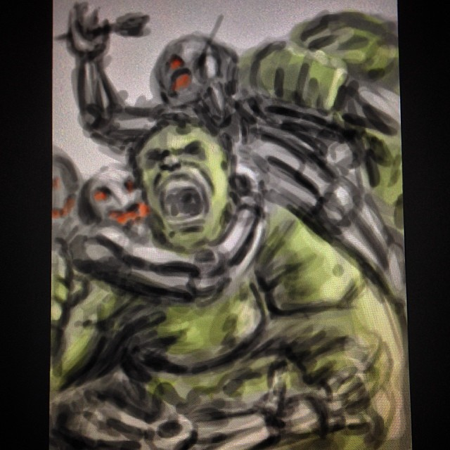 #fun #art #fanart #marvel #hulk #avengers2 #speedpaint #ultron #ageofultron #illustration #painting #sketch #sketchbook #drawing #comics #comiccon
