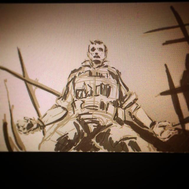 #sketching #sketchbook #mgsv #mgs #snake #venomsnake #phantompain #ps4 #fanart  #e3 #metalgearsolid