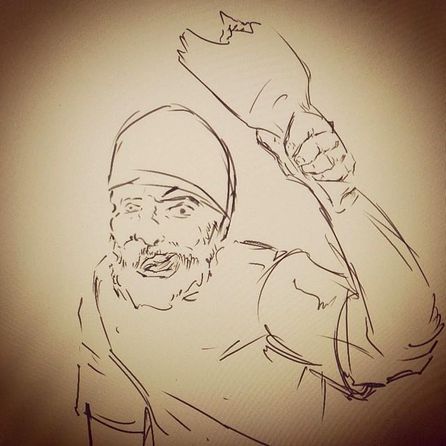 #crazy #homeless #bumfight #bum #hobo #illustration #art #sketchbook #draweveryday