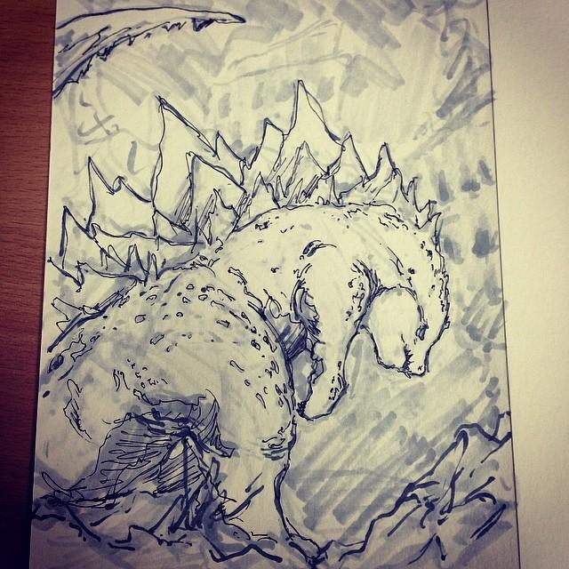 #Godzilla #fanart #art #illustration #drawing #draweveryday #sketchbook #sketch