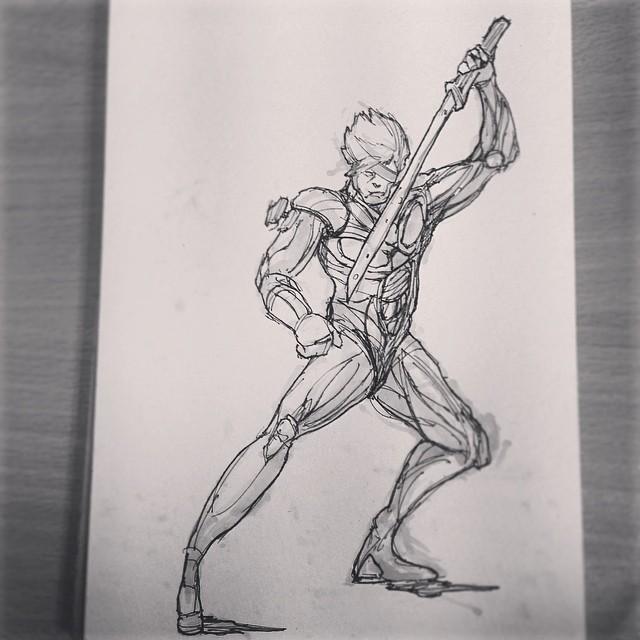 #mgs #metalgearsolid #metalgearrising #art #illustration #drawing #draweveryday #sketchbook #games #fanart