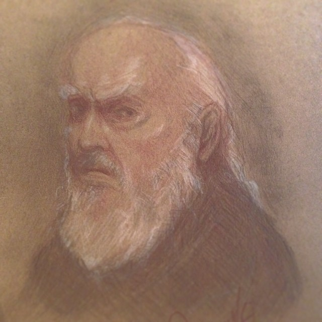 Trying some new #techniques #oldman #face #wise #beard #art #illustration #drawing #pencil