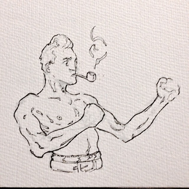 #boxing #fight #punch #pipe #smoke #art #illustration #drawing #ink #sketching