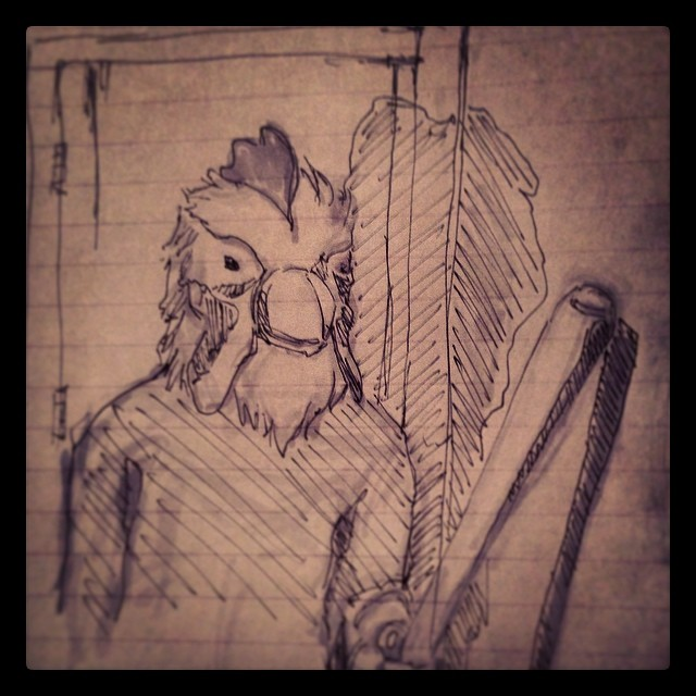 #hotlinemiami #game #fanart #ps3 #vita #playstation #art #drawing #illustration #ink #copic #rooster #mask