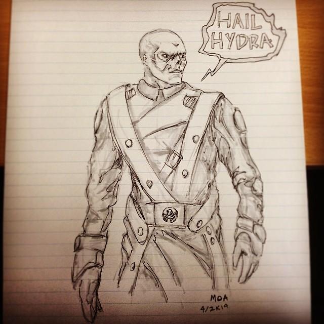 #hailhydra #redskull #marvel #comics #drawing #art #illustration #copic