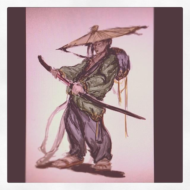 #morning #masterstudies #study #art #illustration #drawing #painting #samurai #sword