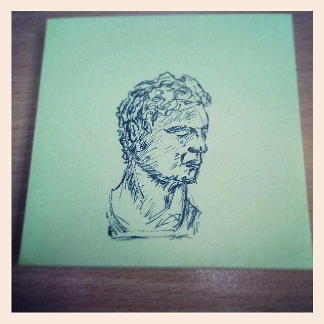 #art #illustration #ink #instaartist #drawing #face #postitnote #sketch