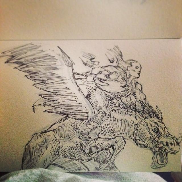 #art #illustration #drawing #ink #copic #marker #marvel #thor