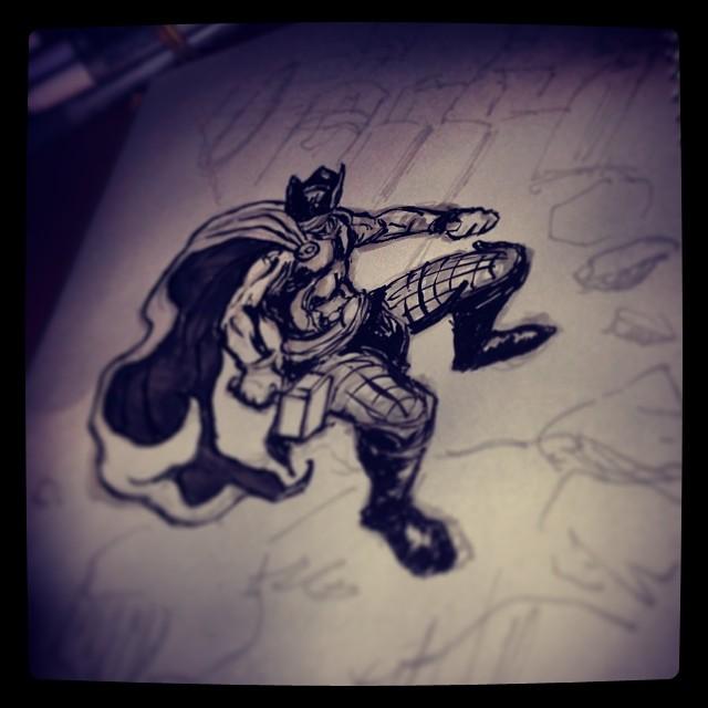 #thor #marvel #drawing #illustration #ink #art